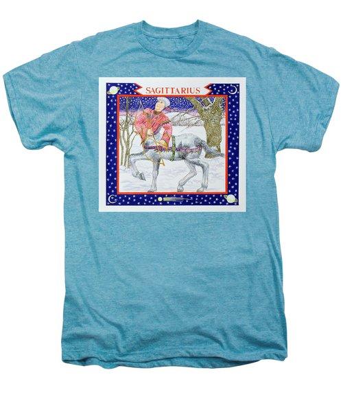 Sagittarius Wc On Paper Men's Premium T-Shirt by Catherine Bradbury