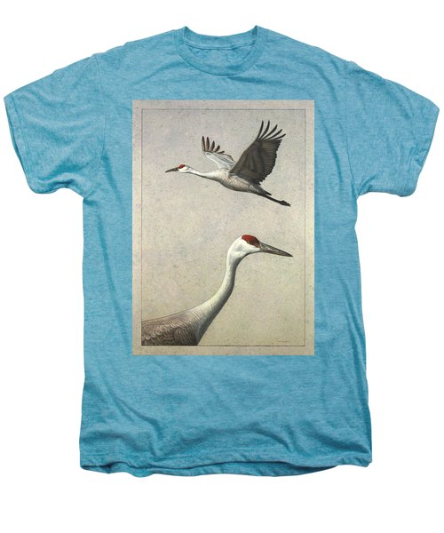 Sandhill Cranes Men's Premium T-Shirt by James W Johnson