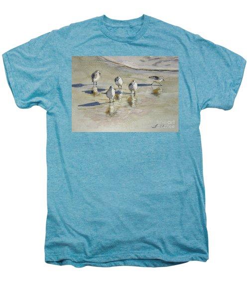 Sandpipers 2 Watercolor 5-13-12 Julianne Felton Men's Premium T-Shirt by Julianne Felton