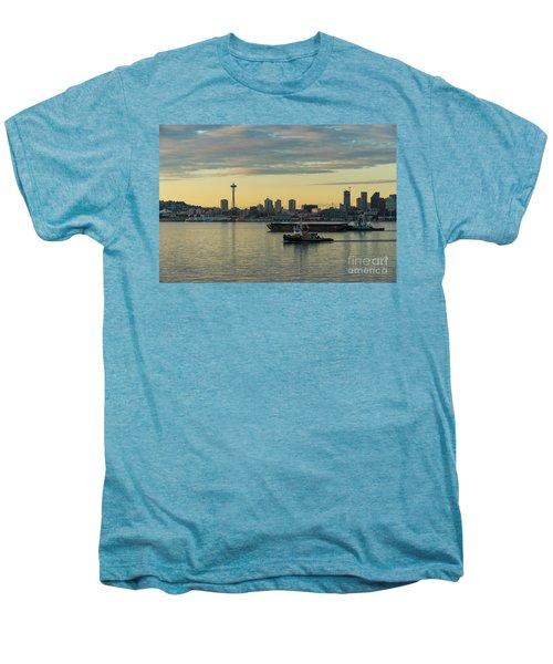 Seattles Working Harbor Men's Premium T-Shirt by Mike Reid