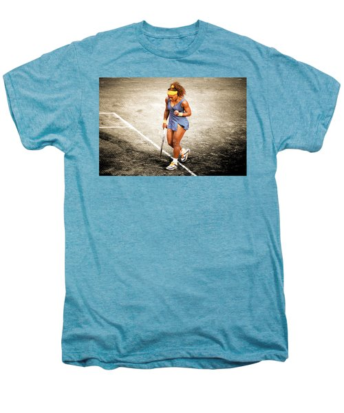 Serena Williams Count It Men's Premium T-Shirt by Brian Reaves