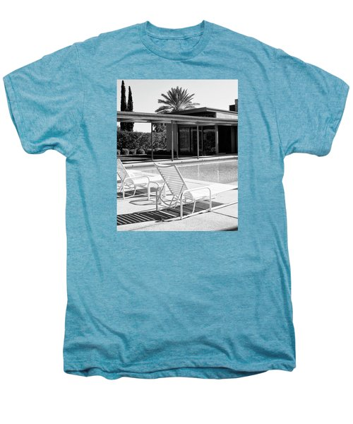 Sinatra Pool Bw Palm Springs Men's Premium T-Shirt by William Dey