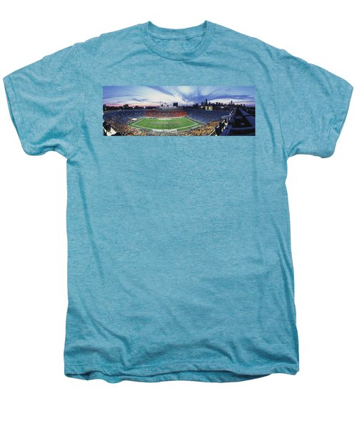 Soldier Field Football, Chicago Men's Premium T-Shirt by Panoramic Images