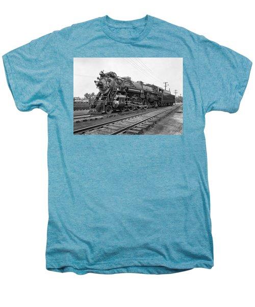 Steam Locomotive Crescent Limited C. 1927 Men's Premium T-Shirt by Daniel Hagerman
