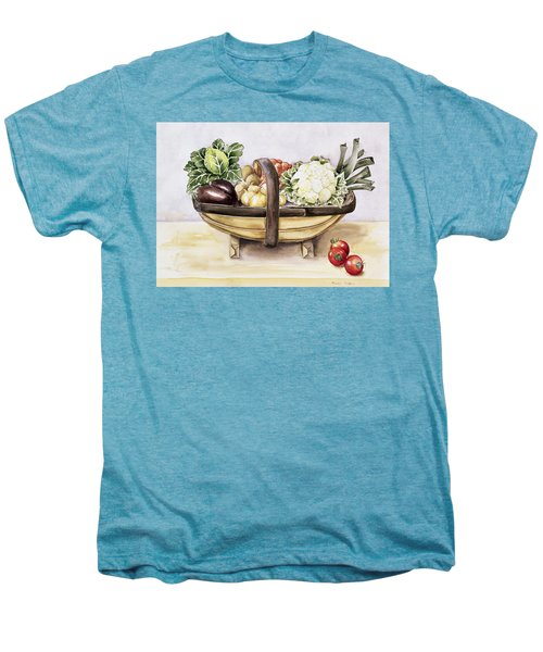 Still Life With A Trug Of Vegetables Men's Premium T-Shirt by Alison Cooper