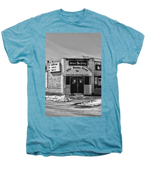 Stone Pony In Black And White Men's Premium T-Shirt by Paul Ward