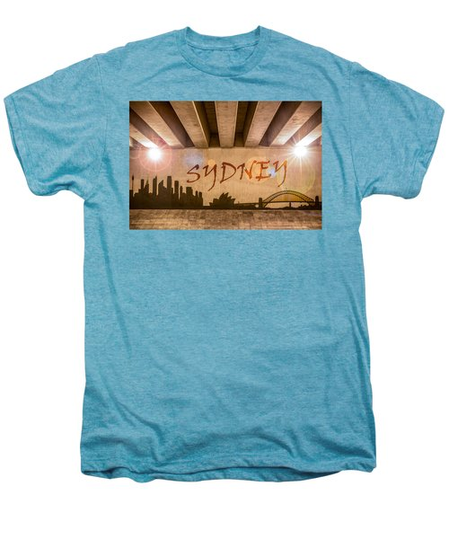 Sydney Graffiti Skyline Men's Premium T-Shirt by Semmick Photo