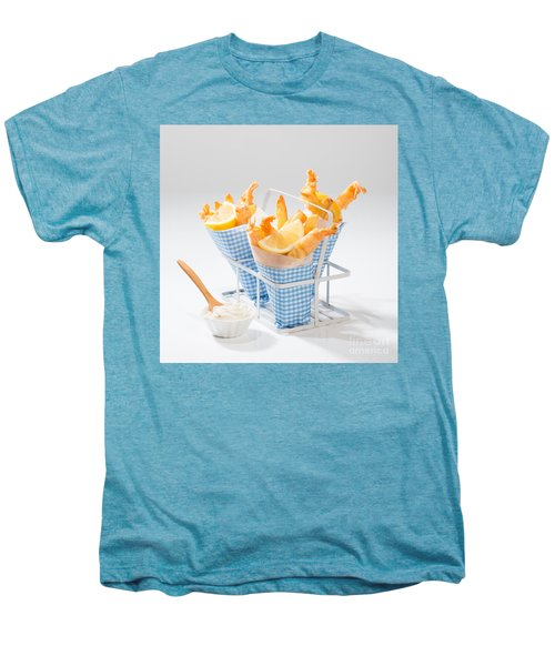 Tempura Prawns Men's Premium T-Shirt by Amanda Elwell