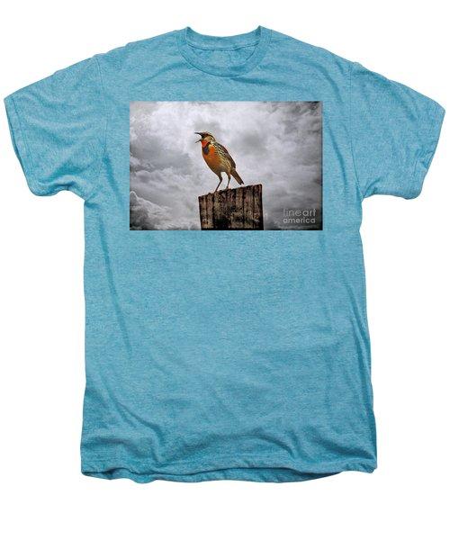 The Meadowlark's Song Men's Premium T-Shirt by Elizabeth Winter