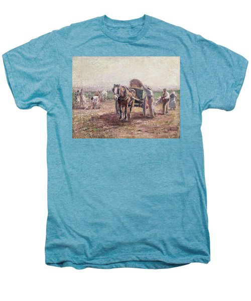 The Potato Pickers Men's Premium T-Shirt by Harry Fidler