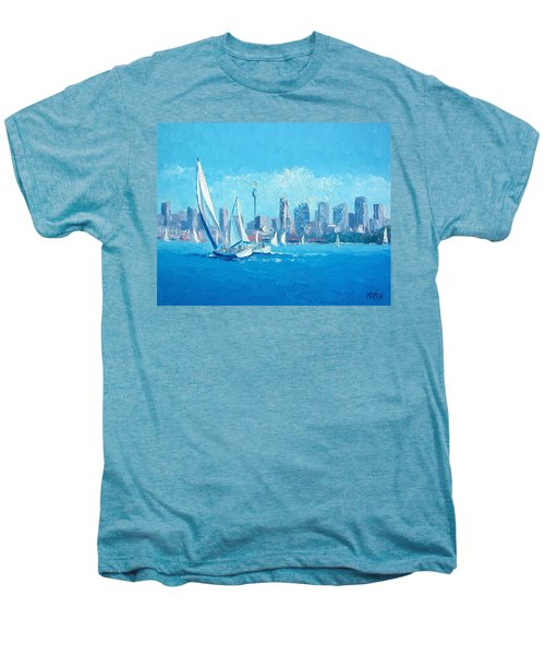 The Regatta Sydney Habour By Jan Matson Men's Premium T-Shirt by Jan Matson