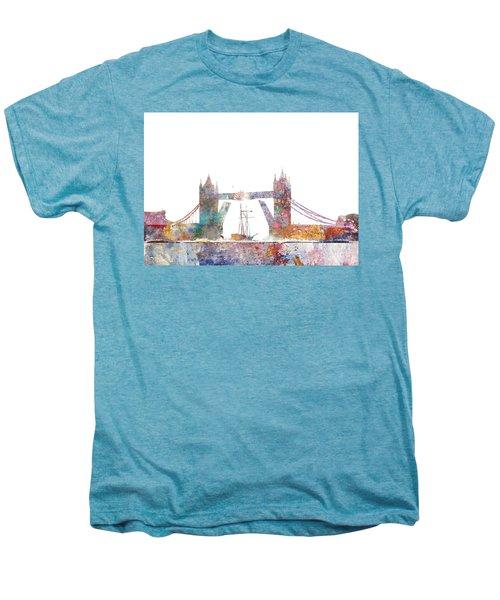 Tower Bridge Colorsplash Men's Premium T-Shirt by Aimee Stewart