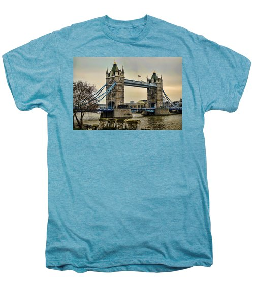 Tower Bridge On The River Thames Men's Premium T-Shirt by Heather Applegate