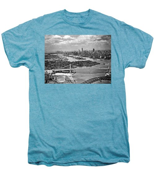 Triborough Bridge Is Completed Men's Premium T-Shirt by Underwood Archives