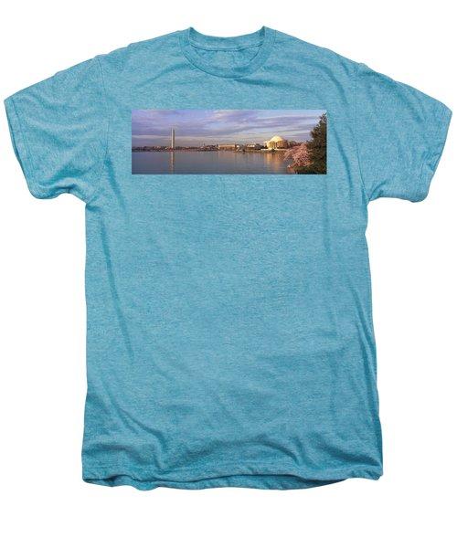 Usa, Washington Dc, Tidal Basin, Spring Men's Premium T-Shirt by Panoramic Images