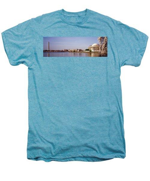 Usa, Washington Dc, Washington Monument Men's Premium T-Shirt by Panoramic Images