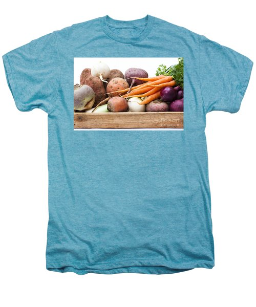 Veg Box Men's Premium T-Shirt by Anne Gilbert