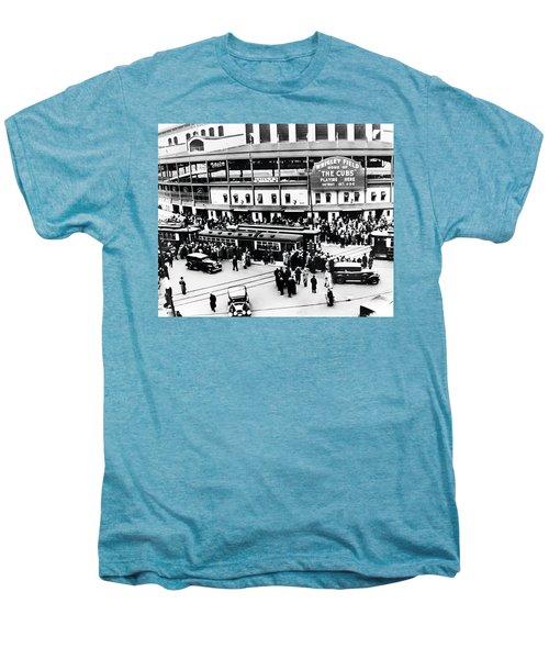 Vintage Wrigley Field Men's Premium T-Shirt by Bill Cannon