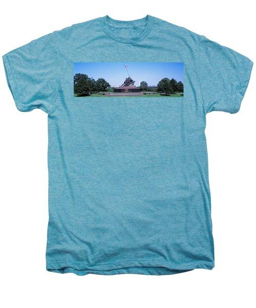 War Memorial With Washington Monument Men's Premium T-Shirt by Panoramic Images