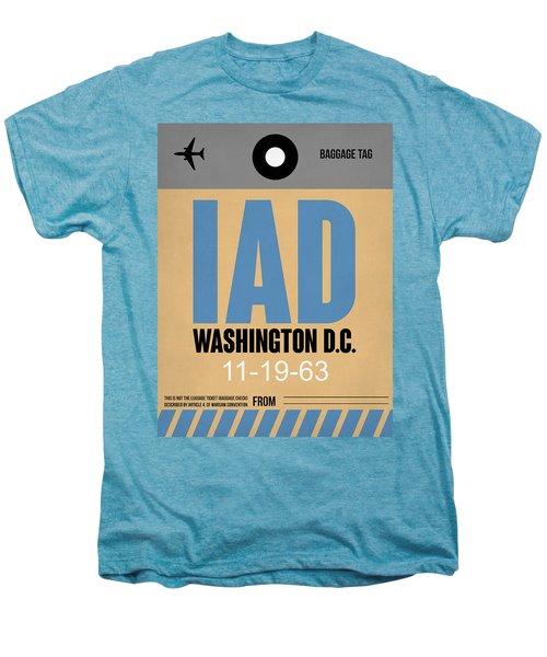Washington D.c. Airport Poster 3 Men's Premium T-Shirt by Naxart Studio