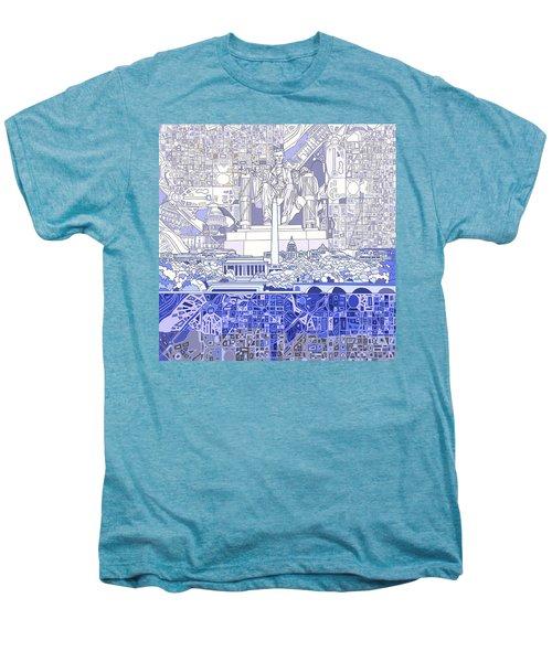 Washington Dc Skyline Abstract 3 Men's Premium T-Shirt by Bekim Art