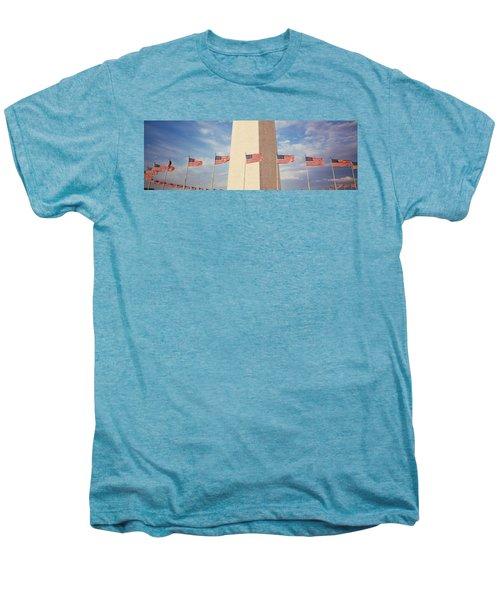 Washington Monument Washington Dc Usa Men's Premium T-Shirt by Panoramic Images