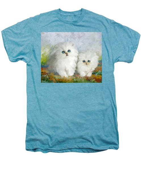 White Persian Kittens  Men's Premium T-Shirt by Catf