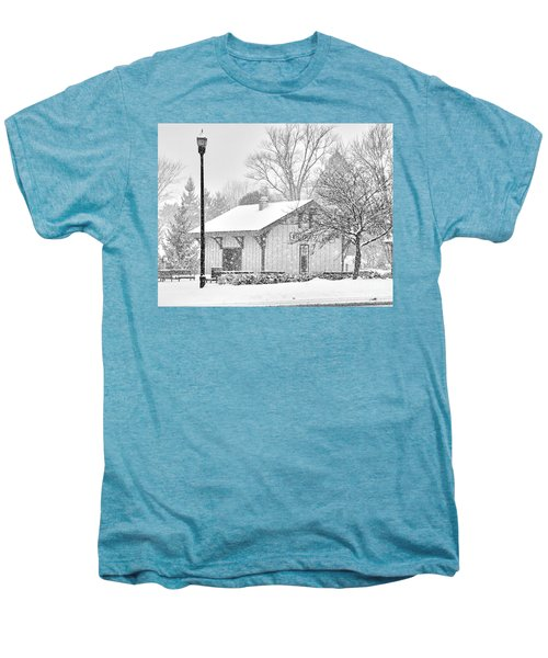 Whitehouse Train Station Men's Premium T-Shirt by Jack Schultz
