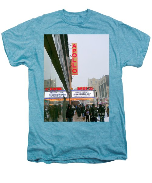 Wintry Day At The Apollo Men's Premium T-Shirt by Ed Weidman