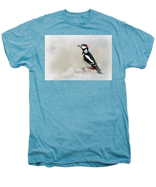 Woodpecker Men's Premium T-Shirt by Heike Hultsch