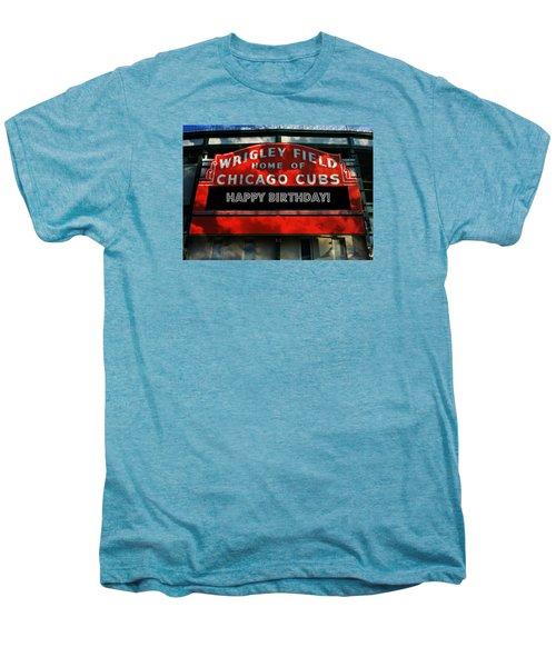 Wrigley Field -- Happy Birthday Men's Premium T-Shirt by Stephen Stookey