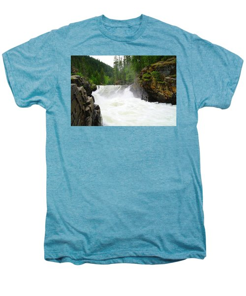 Yaak Falls Men's Premium T-Shirt by Jeff Swan