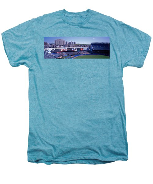 Yankee Stadium Ny Usa Men's Premium T-Shirt by Panoramic Images