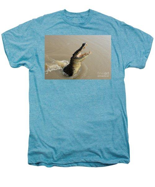 Salt Water Crocodile 2 Men's Premium T-Shirt by Bob Christopher