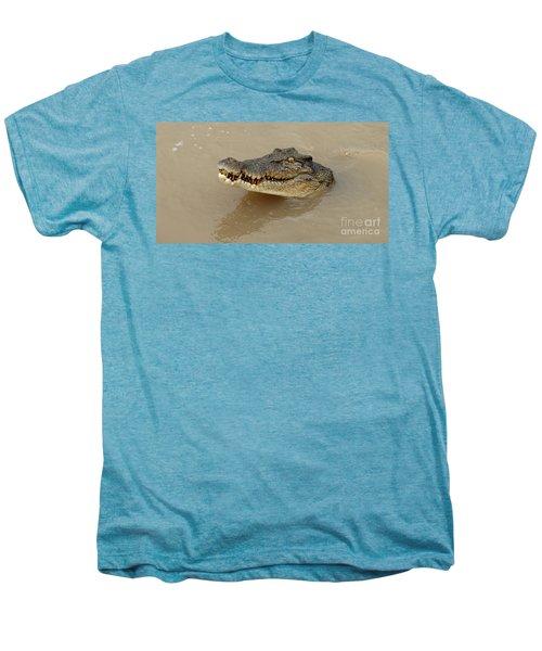 Salt Water Crocodile 3 Men's Premium T-Shirt by Bob Christopher