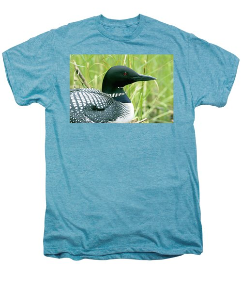 Common Loon, La Mauricie National Park Men's Premium T-Shirt by Philippe Henry