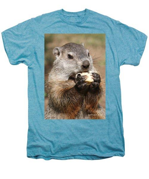 Animal - Woodchuck - Eating Men's Premium T-Shirt by Paul Ward
