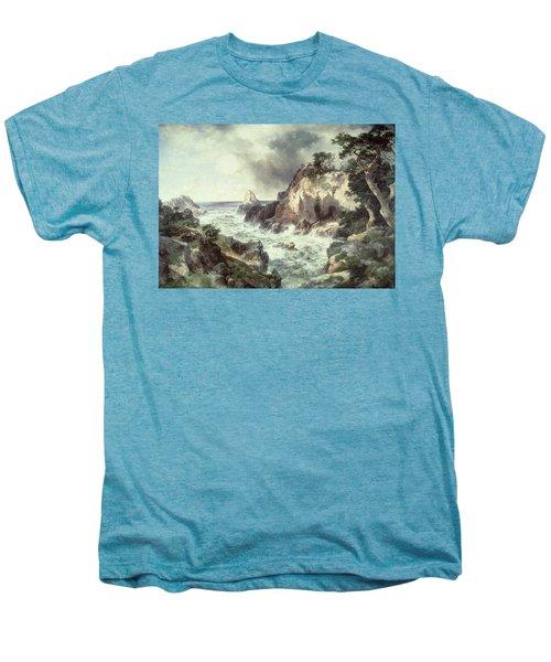 Point Lobos At Monterey In California Men's Premium T-Shirt by Thomas Moran
