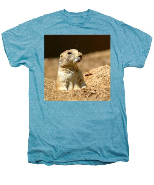 Prarie Dog Bee Alert Men's Premium T-Shirt by LeeAnn McLaneGoetz McLaneGoetzStudioLLCcom