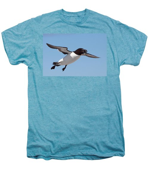 Razorbill In Flight Men's Premium T-Shirt by Bruce J Robinson