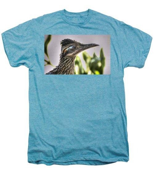 Roadrunner Portrait  Men's Premium T-Shirt by Saija  Lehtonen