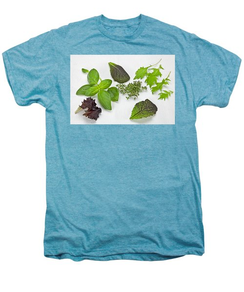 Salad Greens And Spices Men's Premium T-Shirt by Joana Kruse