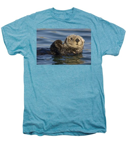 Sea Otter Monterey Bay California Men's Premium T-Shirt by Suzi Eszterhas