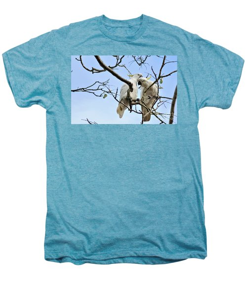 Sulphur Crested Cockatoos Men's Premium T-Shirt by Kaye Menner