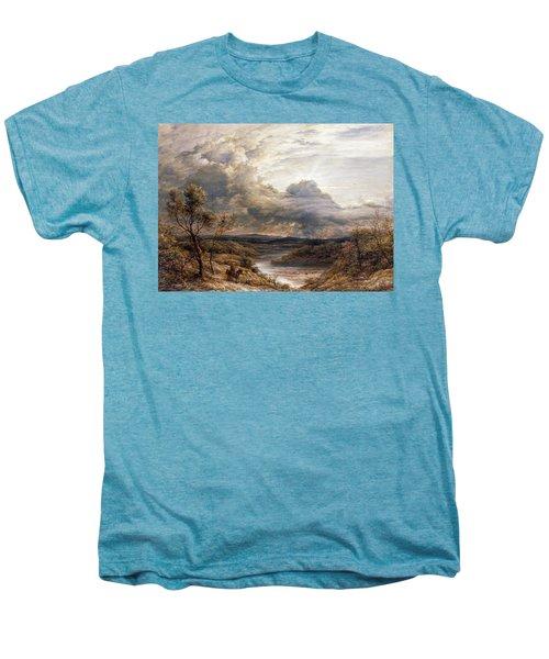 Sun Behind Clouds Men's Premium T-Shirt by John Linnell