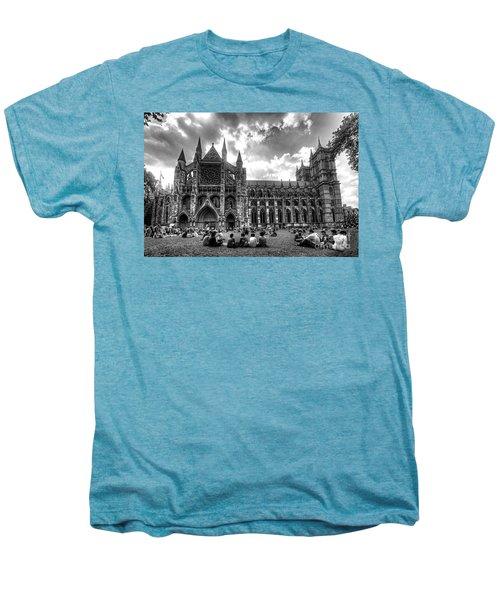 Westminster Abbey Mono Men's Premium T-Shirt by Rob Hawkins
