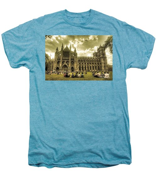 Westminster Abbey Men's Premium T-Shirt by Rob Hawkins