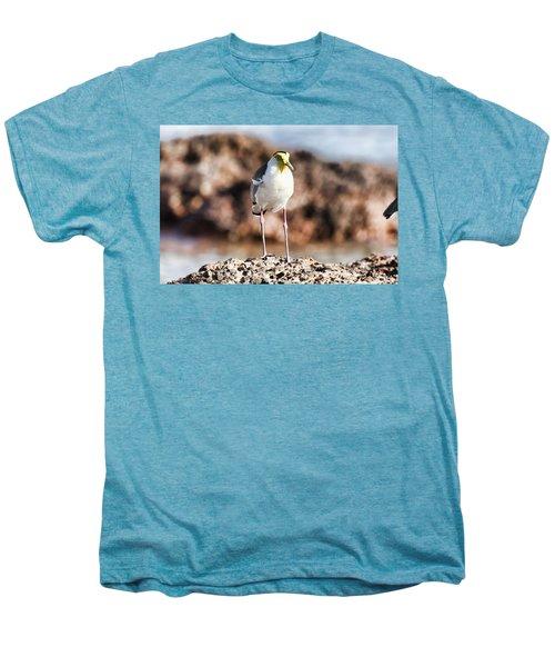 Yellow Mask Men's Premium T-Shirt by Douglas Barnard