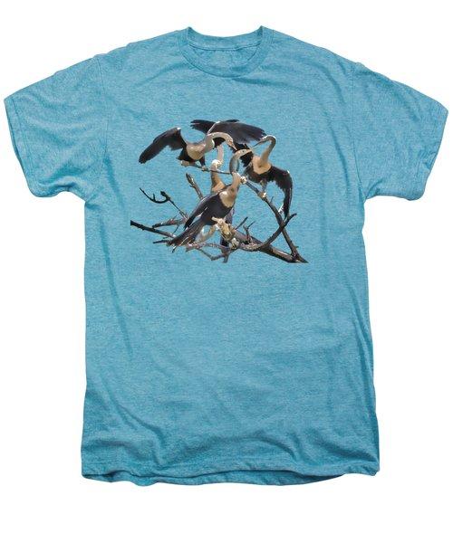 Anhinga Feeding Time Transparency Men's Premium T-Shirt by Richard Goldman