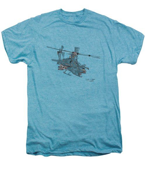 Bell Ah-1z Viper Men's Premium T-Shirt by Arthur Eggers